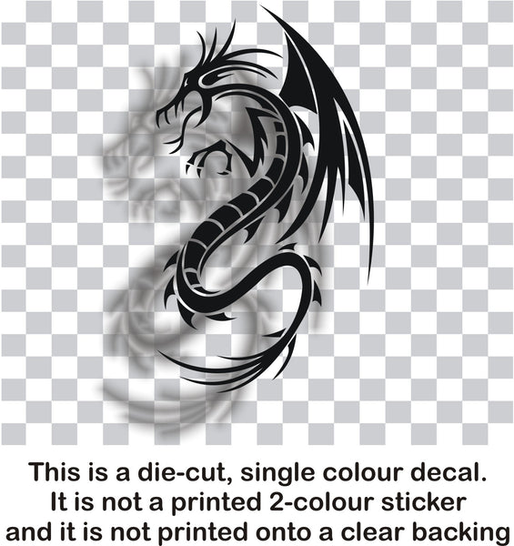 Dragon - tribal tattoo #2 - vinyl car bonnet wall sticker decal - Enhance With Vinyl