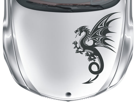 Dragon - tribal tattoo #3 - vinyl car bonnet wall sticker decal - Enhance With Vinyl