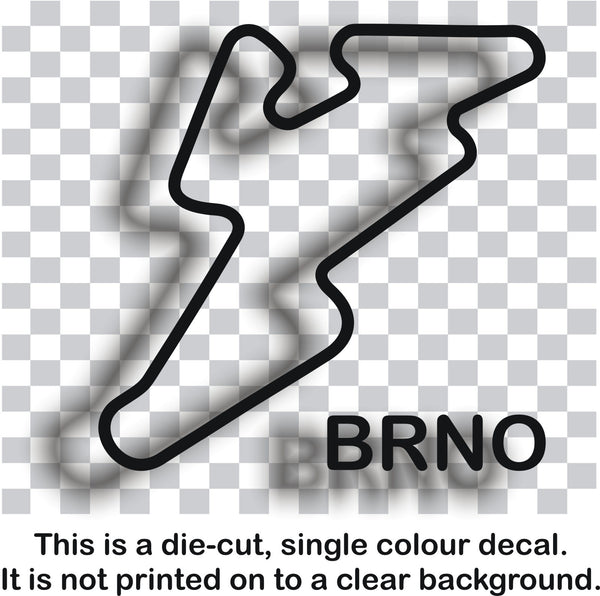Brno - 'Czech Republic' race circuit vinyl decal sticker graphic - Enhance With Vinyl