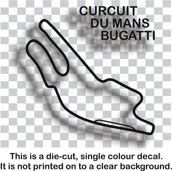 Circuit Du Mans Bugatti - French race circuit vinyl decal sticker graphic - Enhance With Vinyl
