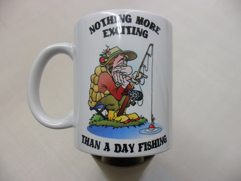 Fishing angler - funny fishing mug birthday Christmas xmas gift present