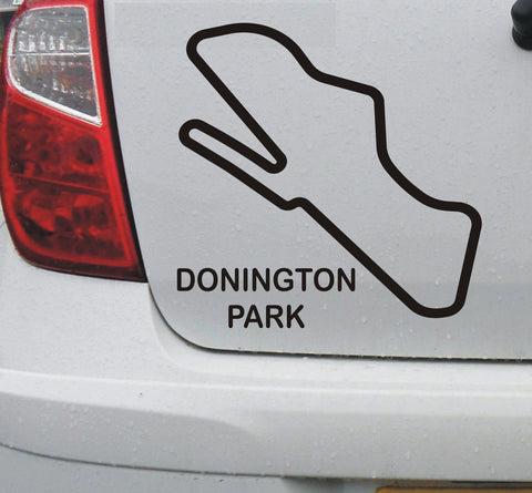 Donington Park - British race circuit vinyl decal sticker graphic - Enhance With Vinyl