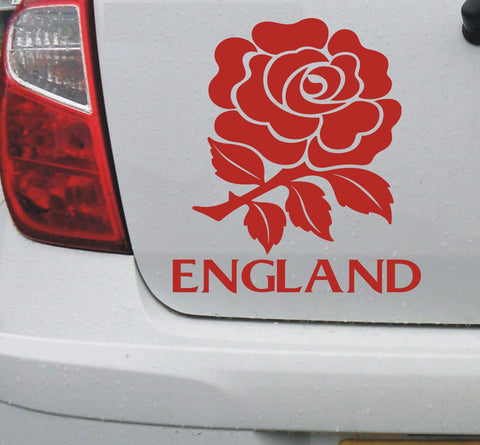 England English rose vinyl decal sticker for car or bike - Enhance With Vinyl