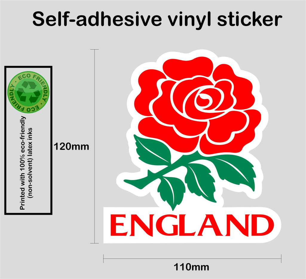 England English rose - full colour printed self-adhesive vinyl sticker - Enhance With Vinyl