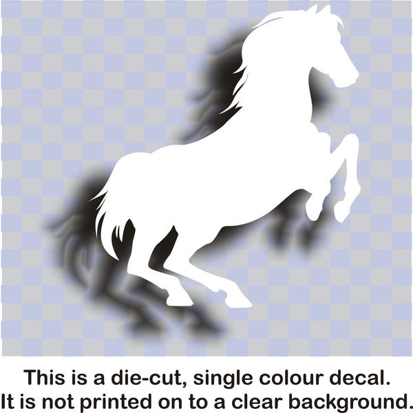 Horse (rearing) vinyl decal #1 car bike window sticker graphic - Enhance With Vinyl