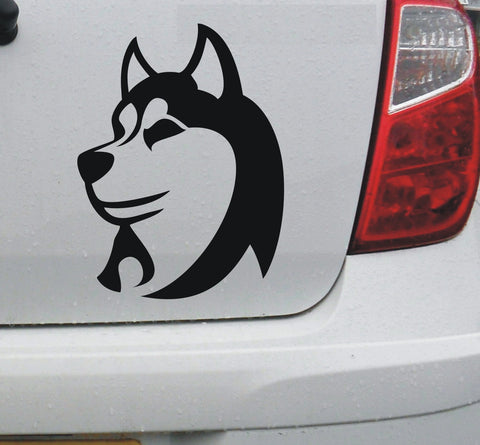 Husky dog vinyl decal sticker #1 car bike bumper window graphic - Enhance With Vinyl