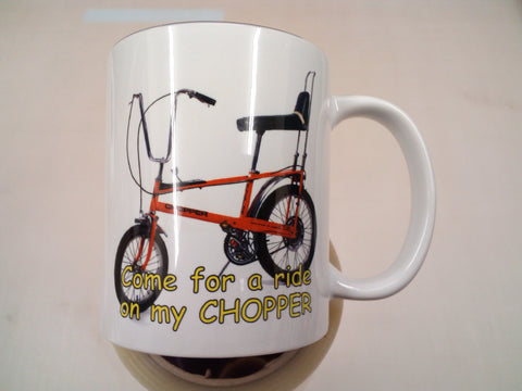 Come for a ride on my chopper - humorous tea/coffee mug