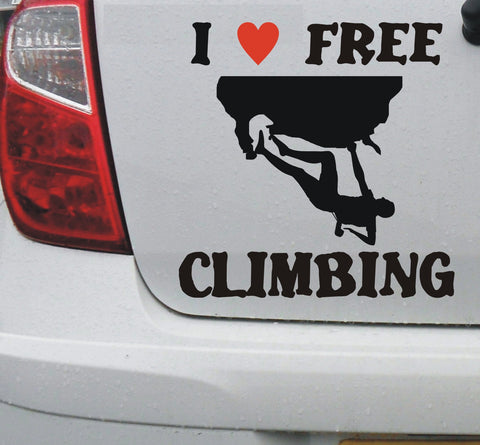 I love Free climbing - vinyl decal sticker graphic - Enhance With Vinyl