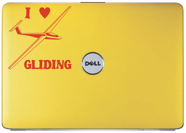 I love gliding - vinyl decal sticker graphic - Enhance With Vinyl