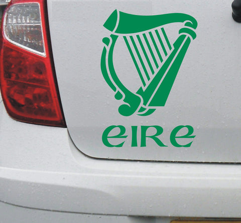 Irish harp (sml) - Ireland Eire Erin Celtic vinyl decal sticker for car or bike - Enhance With Vinyl