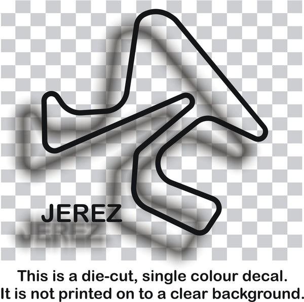 Jerez - Spanish race circuit vinyl decal sticker graphic - Enhance With Vinyl