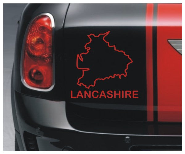 Lancashire county outline - vinyl sticker decal graphic - Enhance With Vinyl