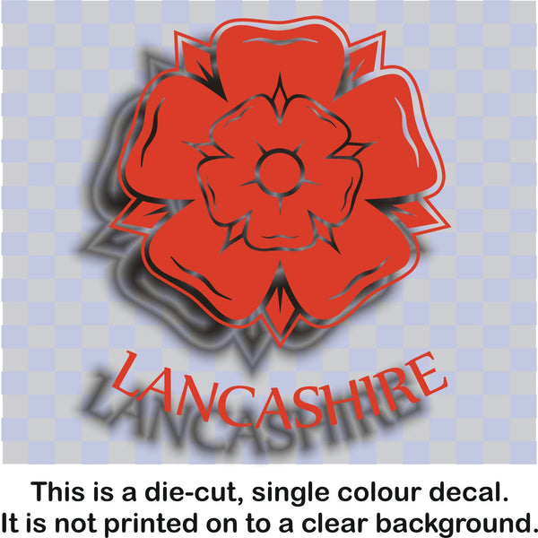 Lancashire rose - vinyl sticker decal graphic #1 - Enhance With Vinyl