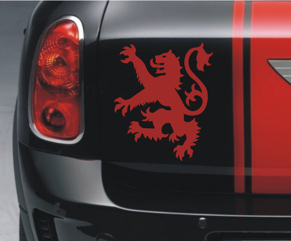 Scottish Lion Rampant - small (facing left) vinyl sticker decal - Enhance With Vinyl