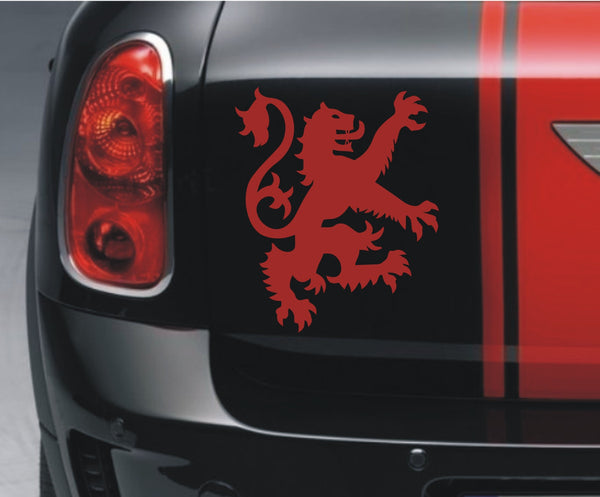 Scottish Lion Rampant - small (facing right) vinyl sticker decal - Enhance With Vinyl