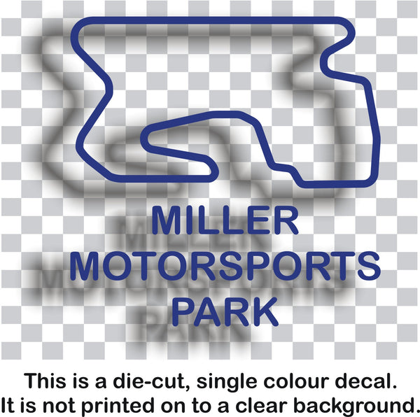 Miller Motorsport Park - American race circuit vinyl decal sticker graphic - Enhance With Vinyl