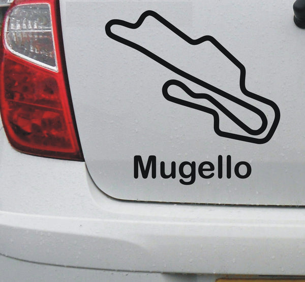 Mugello - Italian race circuit vinyl decal sticker graphic - Enhance With Vinyl