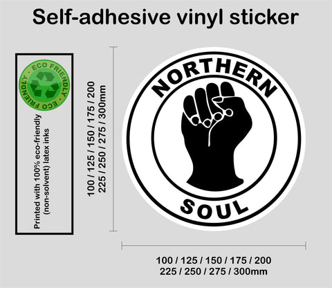 Larger sizes Northern Soul #1 - printed self-adhesive car window wall sticker