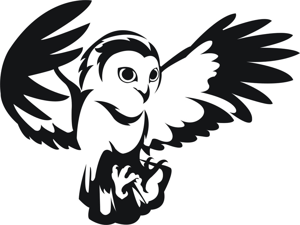 Owl 1 vinyl decal car bike window sticker graphic enhance with vinyl
