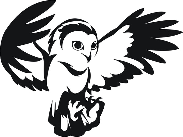 Owl #1 vinyl decal car bike window sticker graphic - Enhance With Vinyl