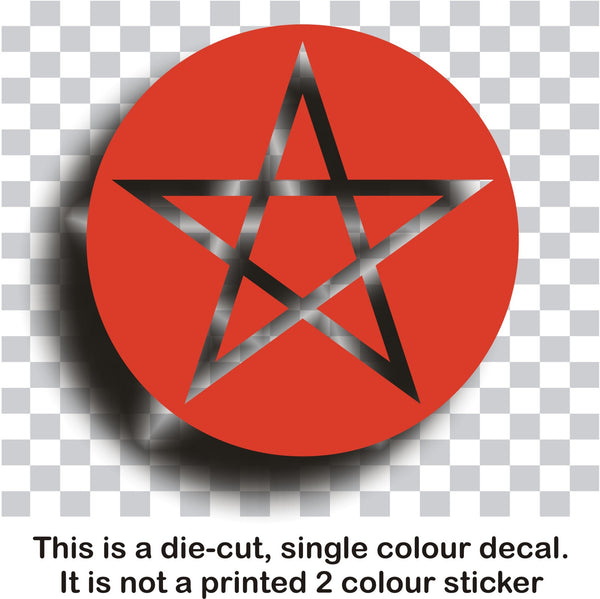 Pentagram pentacle pantacle symbol #1 - vinyl decal graphic sticker for car bike boat and home - Enhance With Vinyl