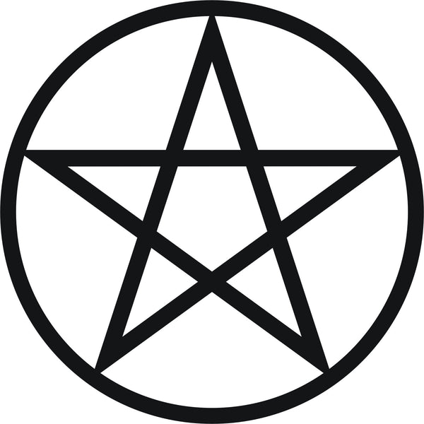 Pentagram pentacle pantacle symbol #2 - vinyl decal graphic sticker for car bike boat and home - Enhance With Vinyl