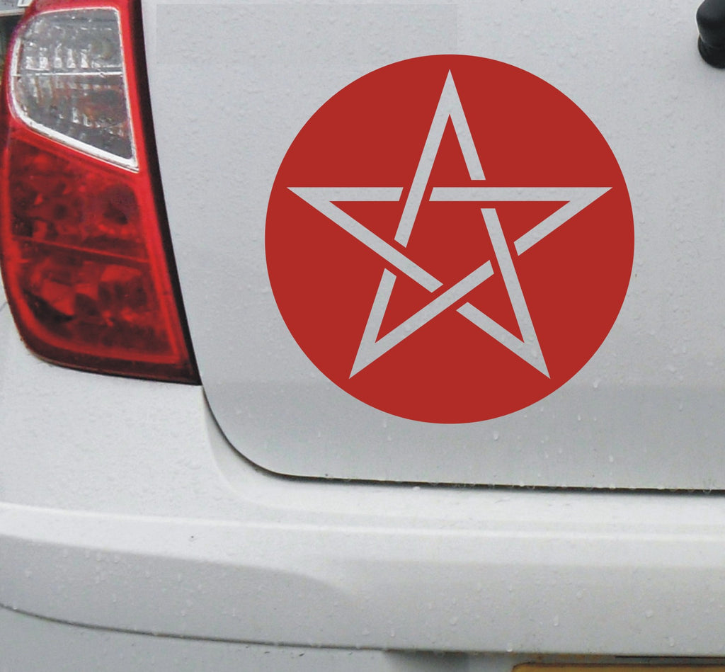 Pentagram pentacle pantacle symbol #3 - vinyl decal graphic sticker for car bike boat and home - Enhance With Vinyl