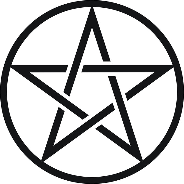 Pentagram pentacle pantacle symbol #4 - vinyl decal graphic sticker for car bike boat and home - Enhance With Vinyl