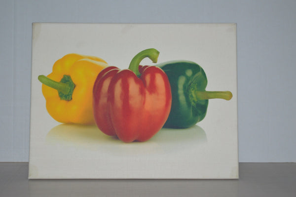 Stretched canvas - peppers