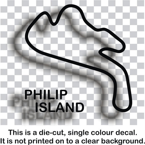 Philip Island - Australian race circuit vinyl decal sticker graphic - Enhance With Vinyl