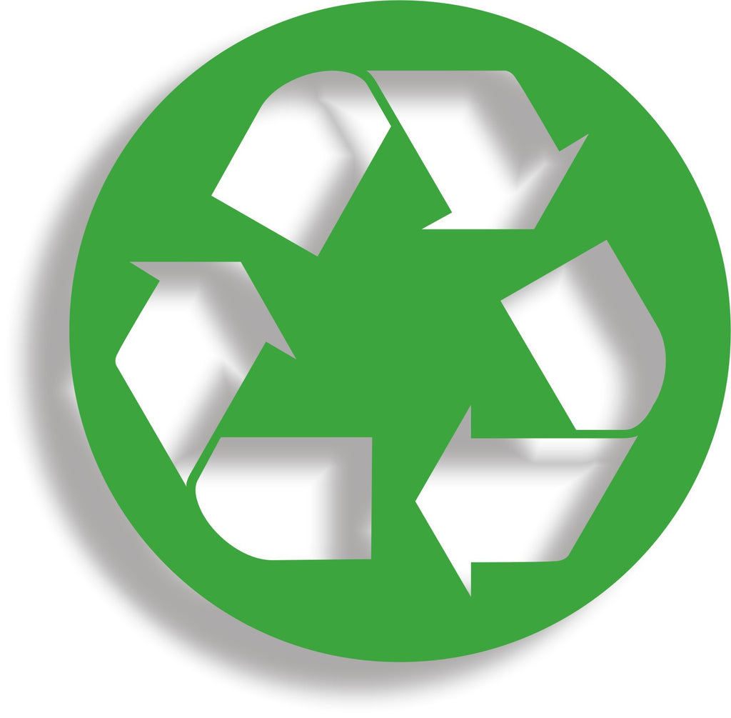 Recycle #3 - Recycling logo symbol vinyl wheelie bin decal sticker - Enhance With Vinyl