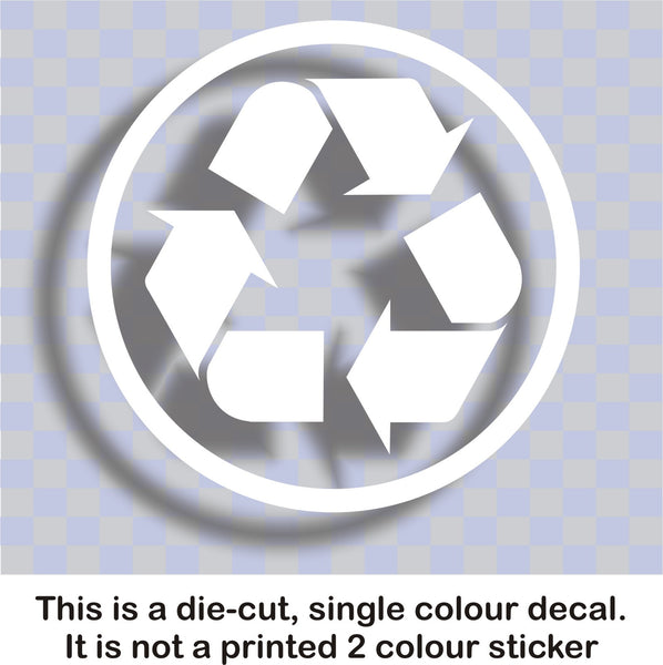 Recycle #4 - Recycling logo symbol vinyl wheelie bin decal sticker