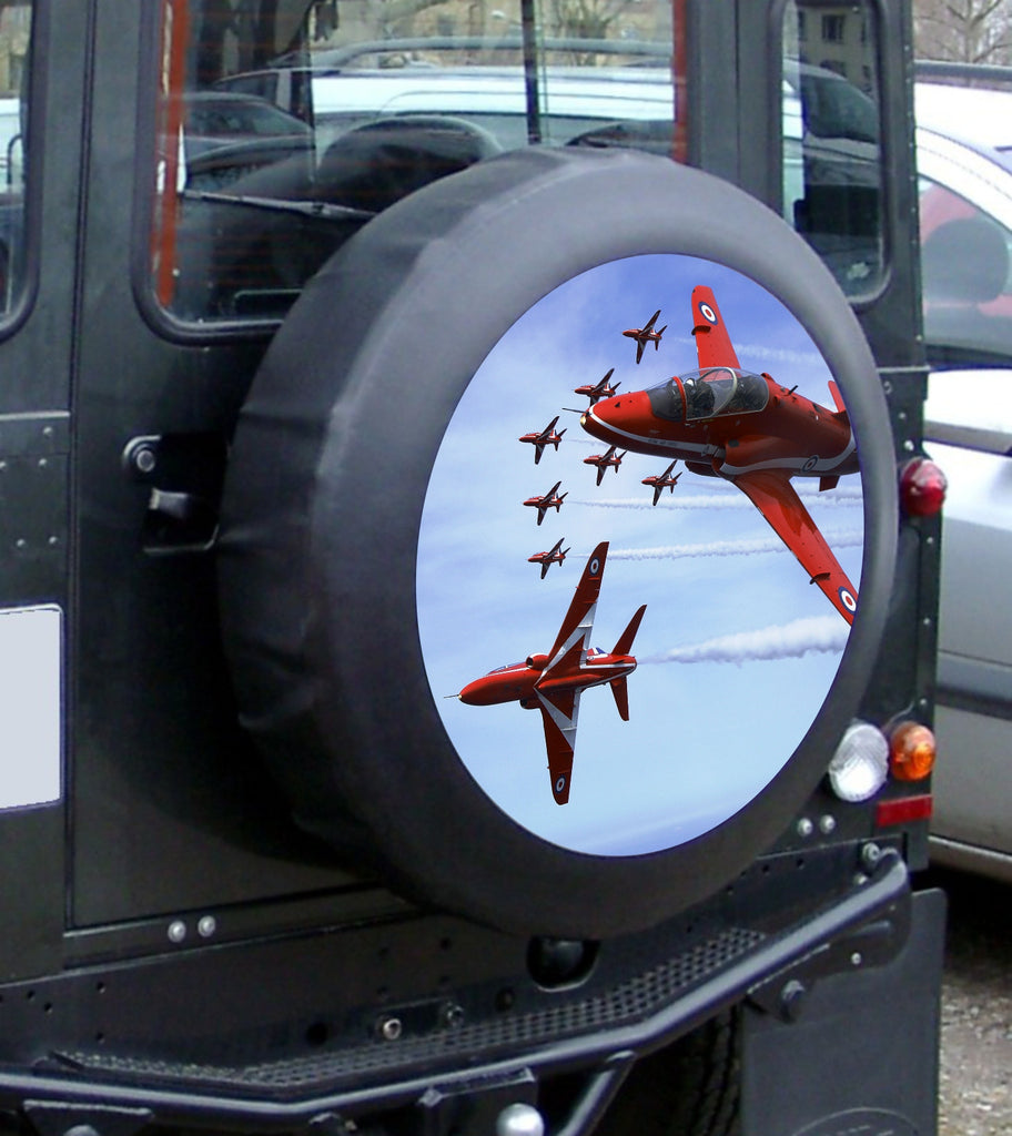 4x4 Spare Wheel Cover Sticker - Full colour laminated Red Arrows graphic