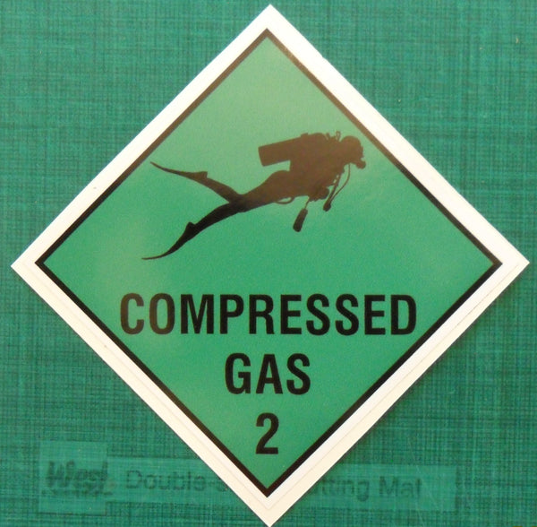 SCUBA diving compressed gas cylinder printed decal sticker #1 - Enhance With Vinyl