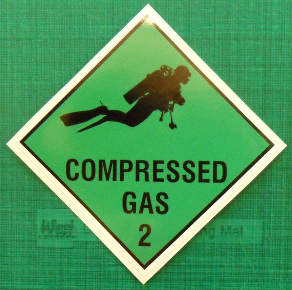 SCUBA diving compressed gas cylinder printed decal sticker #2 - Enhance With Vinyl