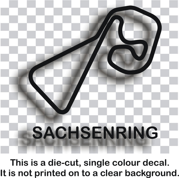 Sachsenring - German race circuit vinyl decal sticker graphic - Enhance With Vinyl