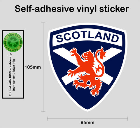 Scottish Scotland saltire red lion rampant vinyl decal sticker #1 - Enhance With Vinyl