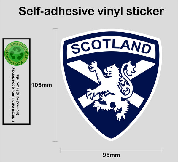 Scottish Scotland Saltire White Lion Rampant Vinyl Decal