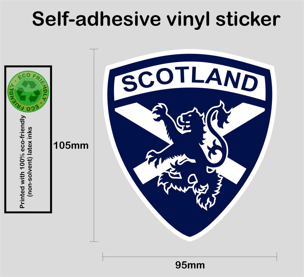 Scottish Scotland saltire blue lion rampant vinyl decal sticker #3 - Enhance With Vinyl