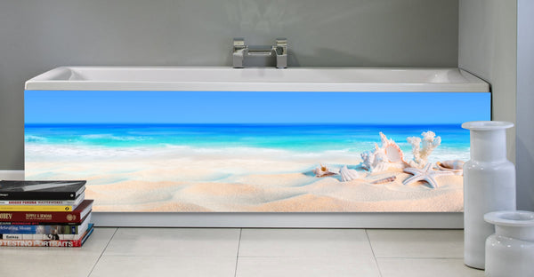 Bath panel - Bath - Seashells on the seashore