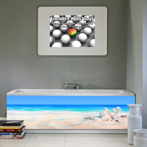 Bath panel - Full - Seashells on the seashore