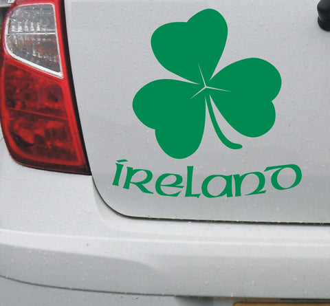 Irish Ireland shamrock vinyl decal sticker for car or bike - Enhance With Vinyl