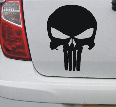 Skull #3 - vinyl decal graphic sticker for car bike bumper window - Enhance With Vinyl