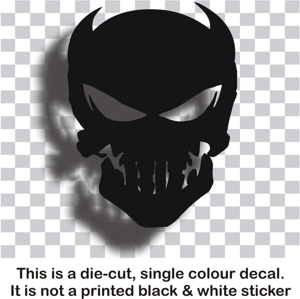Skull #4 - vinyl decal graphic sticker for car bike bumper window - Enhance With Vinyl