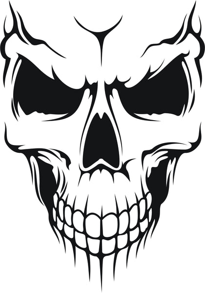 Skull #7 - vinyl decal graphic sticker for car bike bumper window - Enhance With Vinyl