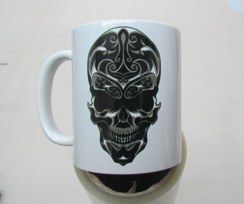 Skull design #8 - 11oz mug birthday Christmas xmas gift present