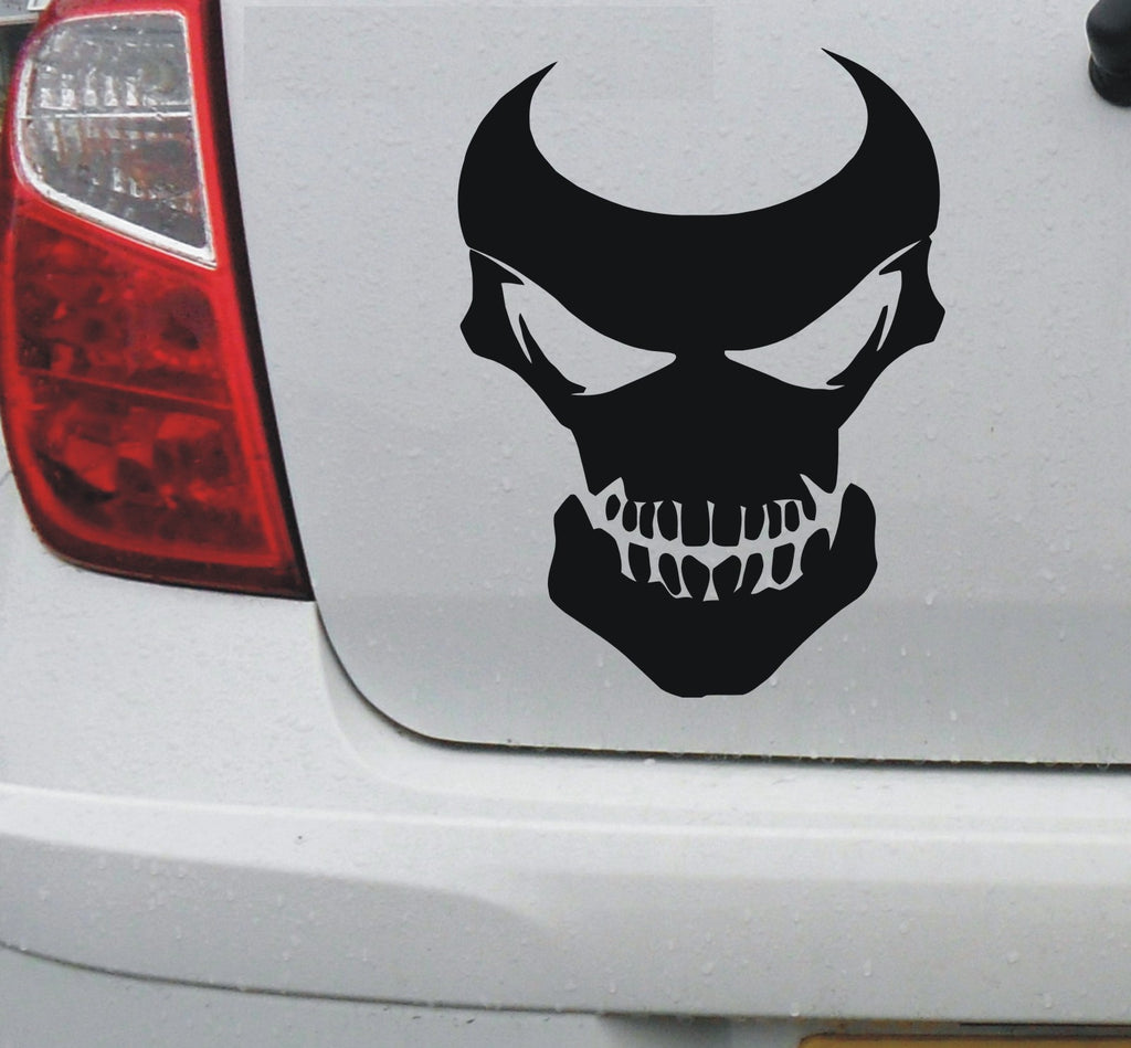 Skull 2 vinyl decal graphic sticker for car bike bumper window enhance with