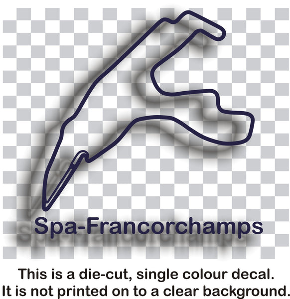 Spa-Francorchamps - Belgian race circuit vinyl decal sticker graphic - Enhance With Vinyl