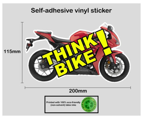 Think bike safety awareness vinyl sticker decal - Honda Fireblade - Enhance With Vinyl