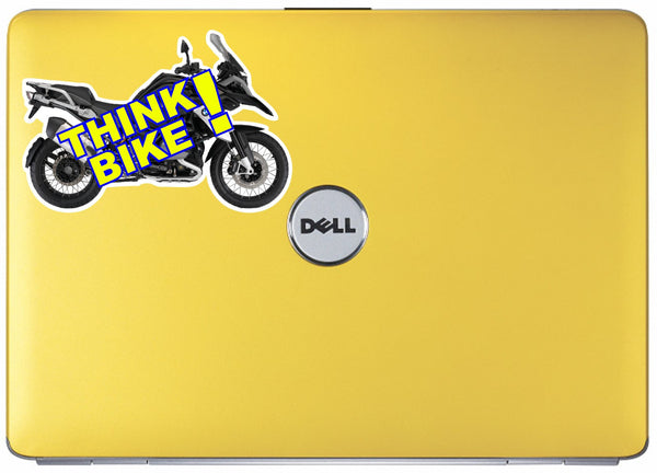 Think bike safety awareness vinyl sticker decal - BMW 1200GS Adventure